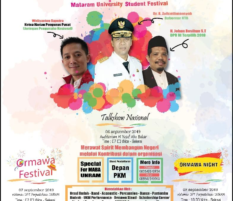 THE BIGGEST EVENT OF THE YEAR Organized by BEM UNIVERSITAS MATARAM